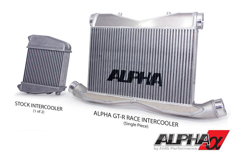 Alpha-intercooler-nissan-gtr-comparación-con-OEM